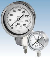 All st.st. bourdon tube pressure gauges from DRUCK & TEMPERATUR Leitenberger GmbH - GERMANY