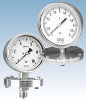 Diaphragm Pressure Gauges from DRUCK & TEMPERATUR Leitenberger - Germany