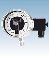 Analogue pressure gauges with electric contacts from DRUCK & TEMPERATUR Leitenberger GmbH - GERMANY