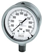 Type 01.20-DS100+150 All st.st. SAFETY bourdon tube pressure gauges DS 100 and DS 160
