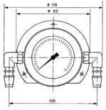 Capsule differential pressure gauge Model 023 from DRUCK & TEMPERATUR Leitenberger GmbH - GERMANY