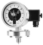 All st.st. diaphragm pressure gauge DS 100, DS 160, with electric contacts, from DRUCK & TEMPERATUR Leitenberger GmbH - GERMANY