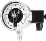 All st.st. safety bourdon tube pressure gauges DS 100 with electric contacts, from DRUCK & TEMPERATUR Leitenberger GmbH - GERMANY
