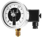 Bourdon tube pressure gauge with electric contacts, DS 100, from DRUCK & TEMPERATUR Leitenberger GmbH