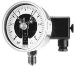All st.st. bourdon tube pressure gauges DS 100 with electric contacts from DRUCK & TEMPERATUR Leitenberger GmbH - GERMANY