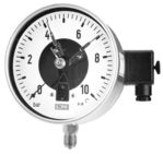 All st.st. bourdon tube pressure gauges DS 160 with electric contacts, from DRUCK & TEMPERATUR Leitenberger GmbH - GERMANY