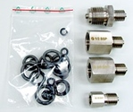Set of threaded BSP adapters for LR-Cal LPP 40 pressure test pump