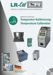 Brochure Temperature Calibration from DRUCK & TEMPERATUR Leitenberger GmbH - GERMANY